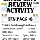Math Mat Review Activity:  ASSORTED TEN PACK #5