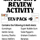Math Mat Review Activity:  ASSORTED TEN PACK #9