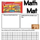 Math Mat Review Activity:  Animal Crackers