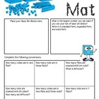 Math Mat Review Activity:  Base Ten Blocks