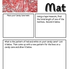 Math Mat Review Activity:  Candy Canes (mini-size)