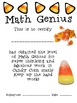 Math Mat Review Activity:  Candy Corn