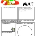 Math Mat Review Activity:  Frog Gummy Candy