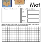 Math Mat Review Activity:  Graham Crackers