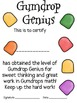 Math Mat Review Activity:  Gumdrops