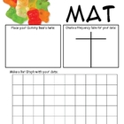 Math Mat Review Activity:  Gummy Bears