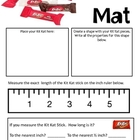 Math Mat Review Activity:  Kit Kat Candy Bars