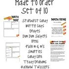 Math Mat Review Activity: Made to Order Ten Pack