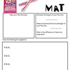 Math Mat Review Activity:  Pixy Stix