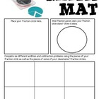 Math Mat Review Activity:  Rainbow Fraction Circles