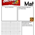 Math Mat Review Activity:  Skittles Candy
