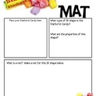 Math Mat Review Activity:  Starburst Candy
