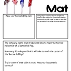 Math Mat Review Activity:  Tootsie Roll Pops