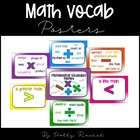 Math / Maths Vocabulary Posters