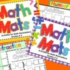 Math Mats Activities for Math Workstations/Centers for K-5 Bundle