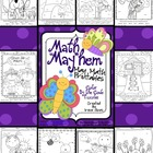 "Math ""May""hem ~ May Math Printables Color By The Code Puzzles"