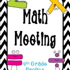 Math Meeting - Headers