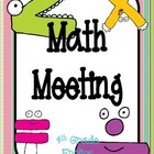 Math Meeting Headers - Chocolate Theme
