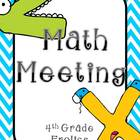 Math Meeting Headers - Turquoise/Gray Theme