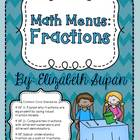 Math Menus: Fractions