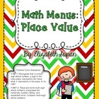 Math Menus: Place Value