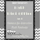 Math Mini Office for Upper Elementary- Black &amp; White Version