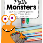 Math Monsters: Open Ended Thinking Questions for Problem Solving