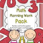 Math Morning Work Pack