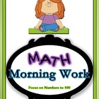 Math Morning Work Sums to 100 with Geometry