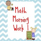 Math Morning Work/Review 1
