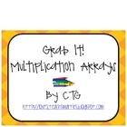 Math Multiplication Array Grab It! Center