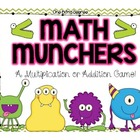Math Munchers Multiplication or Addition Game