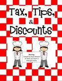 Math Munchies Cafe: Tips, Discounts, Tax, Percents