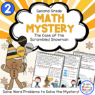 Math Mystery-Case of the Scrambled New Year&#039;s Snowman-Grade 2