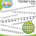 Math Number Lines Clipart  Includes 20 Graphics!
