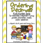 Math Number Sort: Ordering Decimals