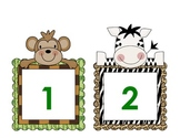 Math Number cards - Jungle Babies