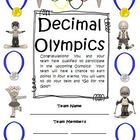 Math Olympics Activities: Addition, Subtraction, Fractions