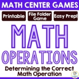 Math Operations Review Game (+, - , x, /) Word Problems an