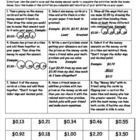 Math Performance Tasks -Money Focus