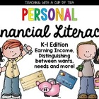 Math: Personal Financial Literacy {Texas K-1 Edition}