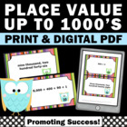 Math Place Value Standard Form Task Cards 1000s