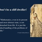 Math Poster: Don't Be a Cliff Dweller
