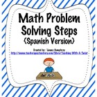 Math Problem Solving Steps {in Spanish}