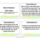 Math Problem Solving Task Cards: Grade 3