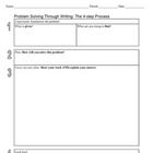 Math: Problem Solving Through Writing (Literacy Strategy)
