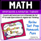Operations and Algebraic Thinking Math Question Strips  fo