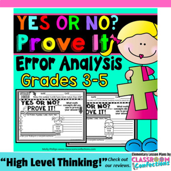 Math Questions for Grades 3-5 { yes or no? Prove it! }