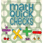 Math Quick Check Cards - Common Core Aligned