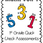 First Grade Math Exit Slips